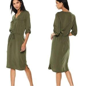 Max Studio soft twill drawstring dress